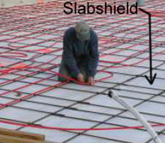radiant heating product for concrete application
