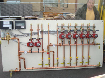 Syracuse, NY Pre-Fab Pump Module | Heat Pump System 10 | heat pump systems 8 zone | Krell Distributing