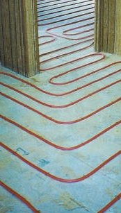 Syracuse, NY In-floor radiant heating pex tubing